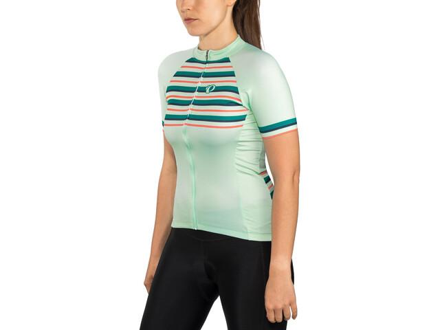 PEARL iZUMi Elite Pursuit LTD Jersey Dames, stripes glacier/teal/navy/sugar coral